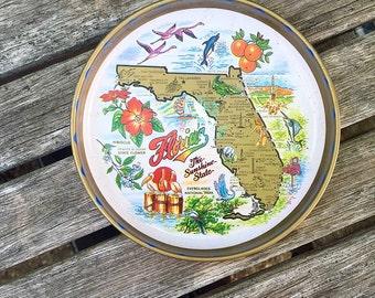 Small Vintage Florida Souvenir Tray