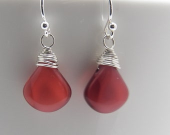 Czech Glass Teardrop Briolette Earrings
