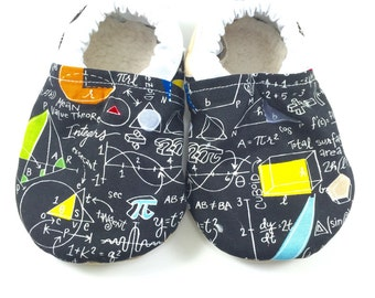 Math baby shoes boy baby booties soft sole baby shoes girl toddler shoes crib shoes math baby clothes math teacher gift baby nerd clothes