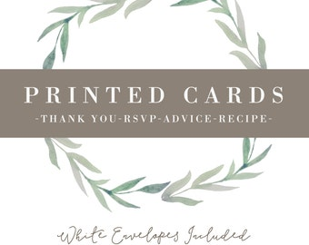 Set of Printed Cards