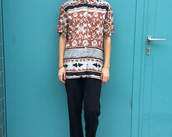 Vintage 90s Ethno Blouse Size XS to M
