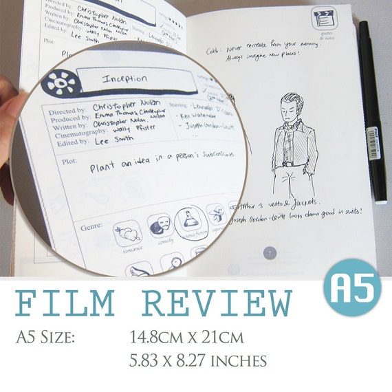 A5 Size Film Review Digital Template Movie Critique
