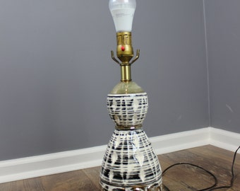 Mid Century Modern LAMP BLACK GOLD