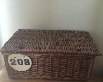 Vintage Wicker Basket/Kids' Decor