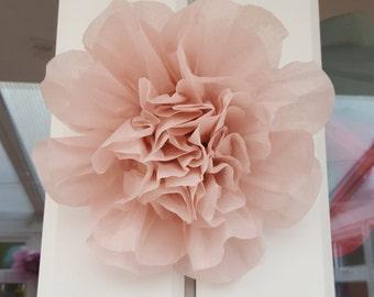 Tissue paper flower 19cm Wedding VenueDecorations Pompom Baby shower Centerpiece