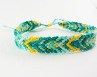Orange and Aqua friendship bracelet