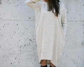 Linen/Woolen Dress Motumo 15FW6