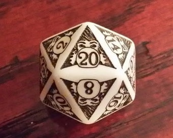Unique D20 Fortune Teller:  20-Sided die for Role Playing Games and Magic the Gathering
