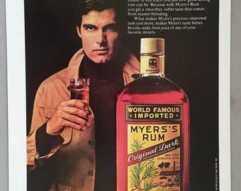 1980 Myers's Rum Print Ad