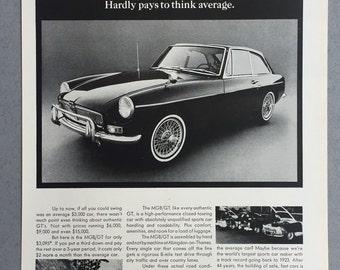 1967 MGB/GT Print Ad - Sports Car