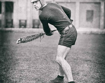Lacrosse player vintage photo antique photograph vintage sports 1920s- PRINT