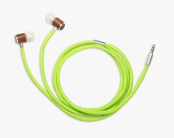 Colorful Handmade Earphones - Neon Green