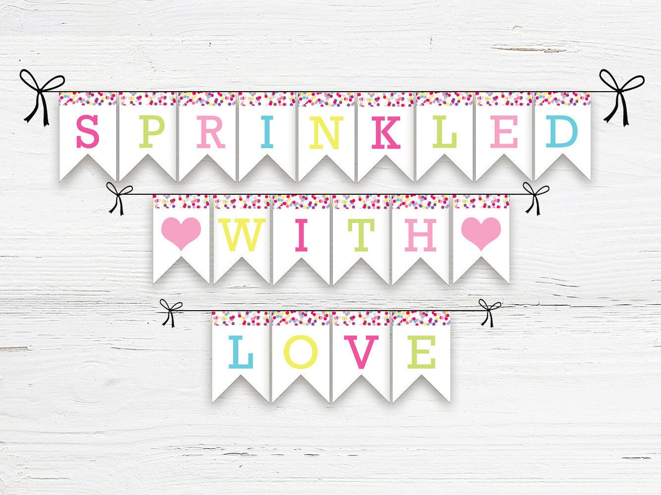 sprinkled with love printable banner printable baby shower
