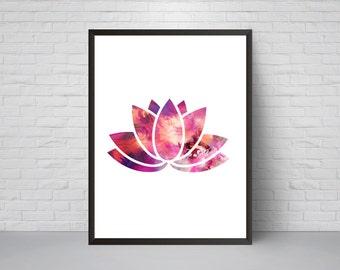 Lotus Flower Wall Art lotus poster | etsy