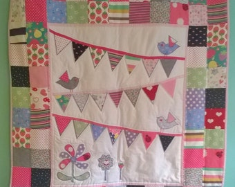 Custom Applique Baby Clothes Memory Patchwork Quilt