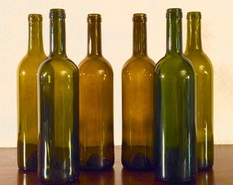 Empty Wine Bottles Uncut and without Labels 6-pack *Expedited Shipping