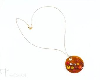 Floral pendant necklace Unique jewelry women Murano glass pendant, Murano pendant, Millefiori necklace, boho necklace unique gifts for women