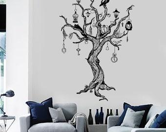 Wall Decal Magic Tree Birds Fairytale Dreams Vinyl Sticker Mural Art 1440dz