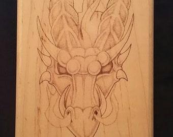 Smoking Dragon Wood Burning on Maple