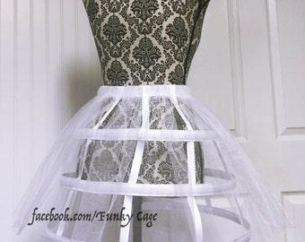 Cage Skirt Hoop Skirt white/ tulle S-L
