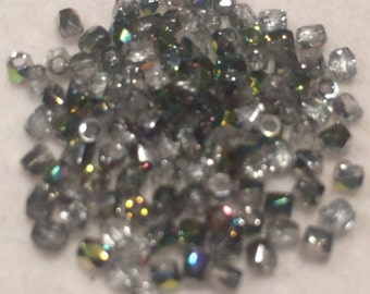 Fire Polished Beads, 2mm, Crystal Vitrail, FPR0200030-28101, 50 Beads, Czech Glass
