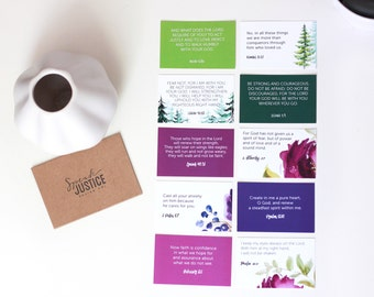 Scripture Cards, Watercolor Bible Verse and Prayer Card Pack