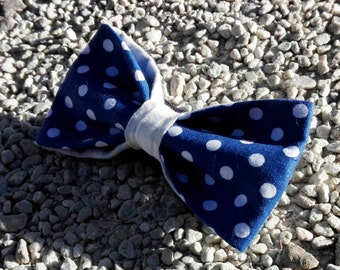 Papillo blue with white polka dots