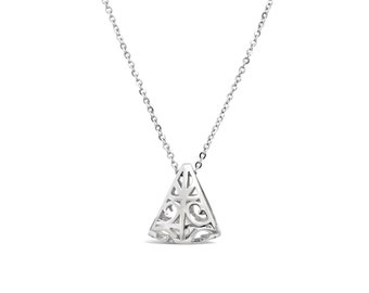 Triangle Pendant Sterling Silver - Triangle Charm - Triangle Necklace Pendant - Triangle Jewellery - Triangular Silver Pendant