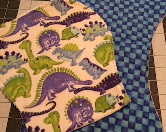Dinosaur / Dino / Square Burp Cloth Set