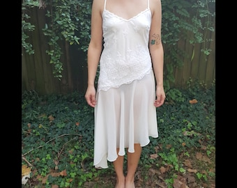 Vintage Delicates Nightgown Lace Lingerie Night Gown Slip Dress