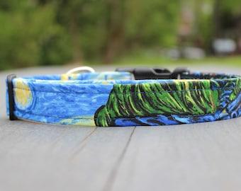 Starry Night, Vincent van Gogh Dog Collar