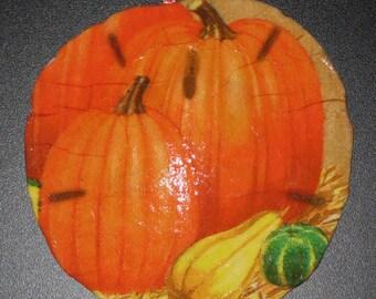Pumpkin Sand Dollar Ornament