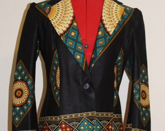 Ankara Print Jacket