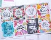 8 Motivational Quotes Volume  4 Full Boxes Planner Stickers  /EC  Vertical or Horizontal / Happy Planner Recollections