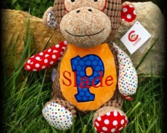 Personalized monkey etsy custom monkey personalized monkeycubbie stuffed animal monkey baby gifts birth negle Image collections