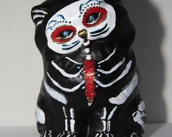 Valentine the Cat-Dia de Los Muertos OOAK