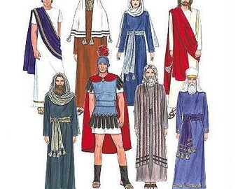 Passion PLay Costumes Sewing Pattern Uncut McCalls 2060 Jesus, Mary, Apostles, Pilot, Pharisee, High Priest, Soldier Size Large