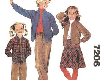 Vintage Girls Jacket, Pants, Skirt Sewing Pattern UNCUT McCalls Size 14