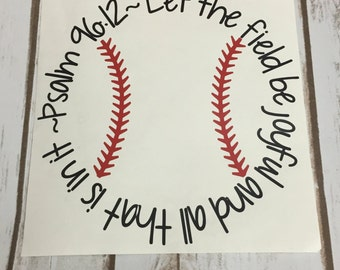 Baseball Car Decal Etsy - Bible verse custom vinyl decals for car