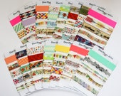 Washi Tape Samples | Sampler Card | Random Designs | Washi Lot Sampler | Cute Washi