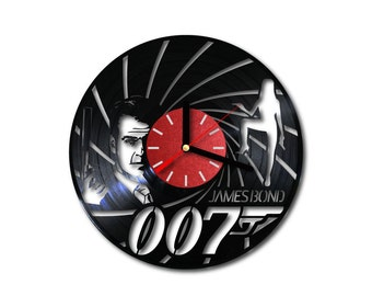 Vinyl wall clock James Bond