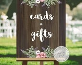 Wedding signs download, wedding signs for gift table, wedding signs ideas - CARDS and GIFTS, wooden wedding signs, DIGITAL download