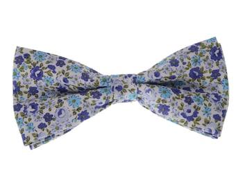 Bow Tie for Men.Floral Bowtie.Wedding Bow tie.Lavender Floral Prints.Bowtie Set.Wedding Set.