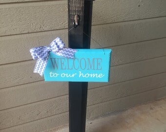 Welcome Post, Porch Post, Sign Post, Decorative Sign Post, Porch Decor