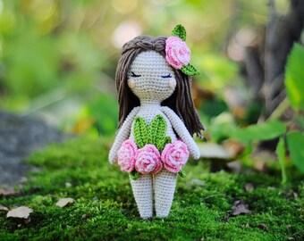 Crochet amigurumi forest nymph fairy doll pattern chart