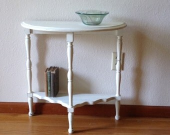 Vintage Wood Hall Table, Painted Table, Side Table, Plant Stand