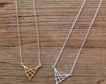 Pattern V pendant necklace