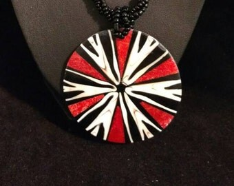 CLEARANCE *Red Coral and Cone Shell Pendant Necklace