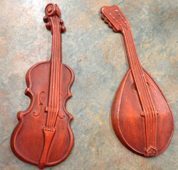 Musical Instruments Wall Hanging Violin Mandolin Royal