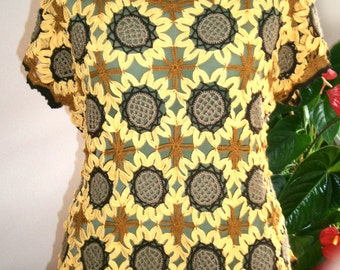 crotcheted sunflower top